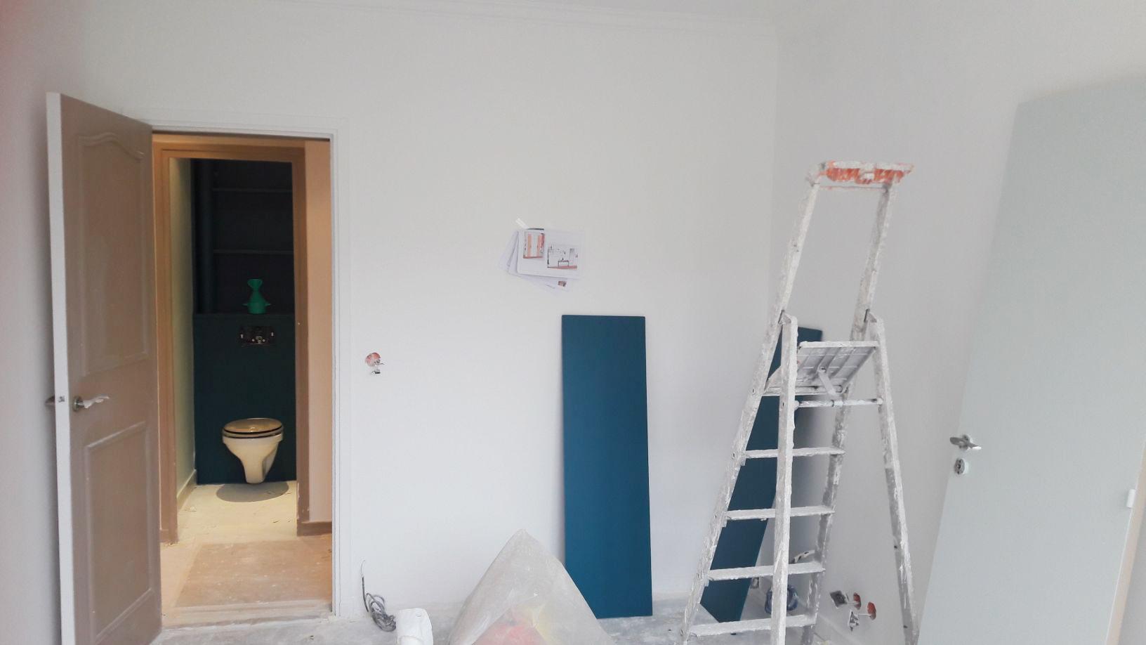 Travaux dans la future chambre terracotta - Studio Chichichic